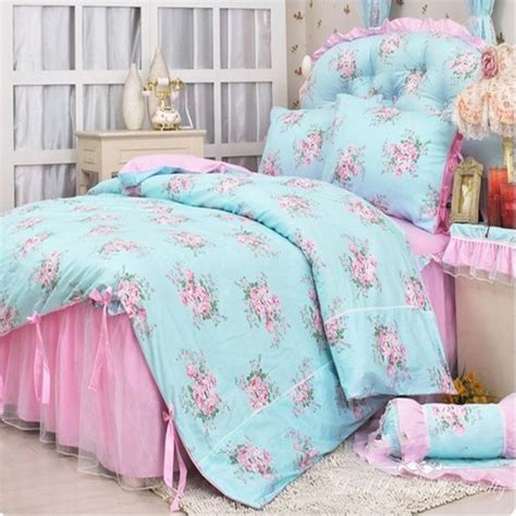pink princess bedding pastoral lace bedspread princess bedding sets queen size