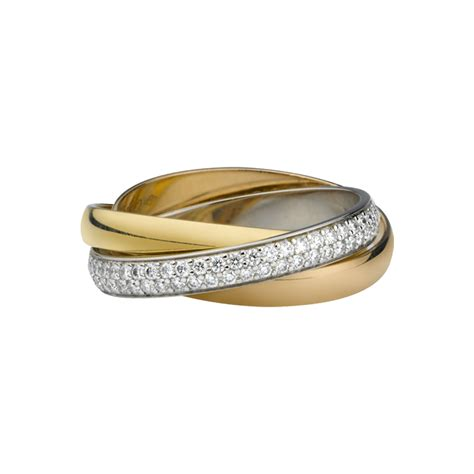 trinity ring 3 gold diamonds fine wedding bands for women cartier jewellery and