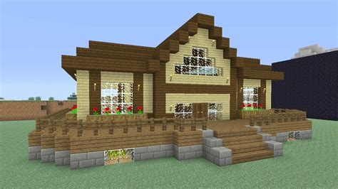 minecraft survival house minecraft tutorial how to make an awesome wooden survival house 5 ash 27 youtube
