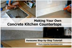 your own concrete kitchen countertops