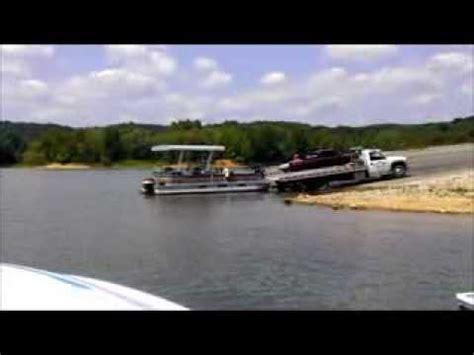 pontoon boat on car trailer tow truck pontoon trailer youtube