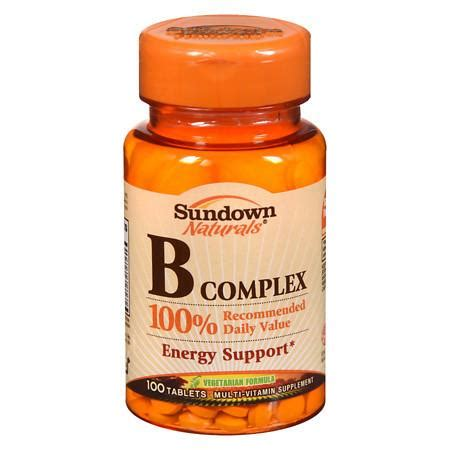 b complex supplement sundown naturals b complex multivitamin supplement tablets