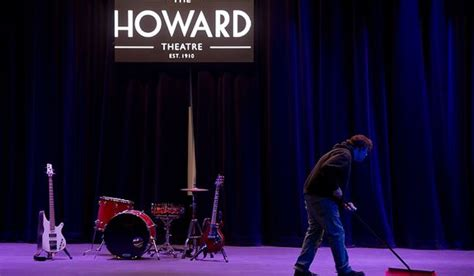 Silplate Sing Stainless All New Jazz a worker sweeps the stage of the redesigned historic howard theatre which is set to reopen with