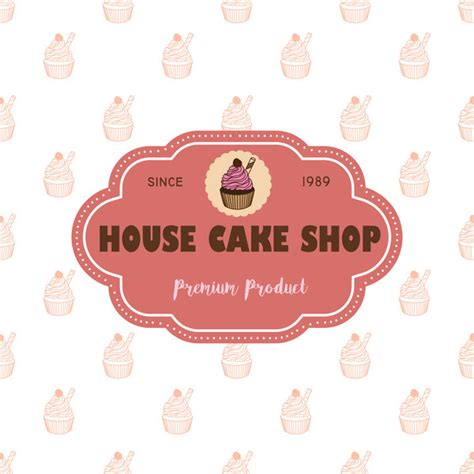design label cake cake shop labels with background vector 04 vector