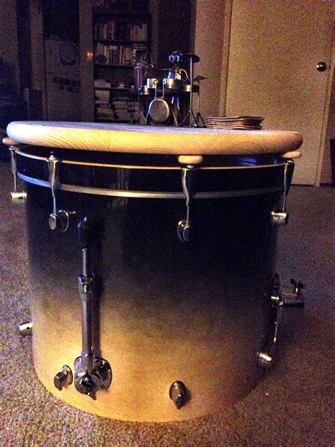 16 quot bass drum drum set coffee table