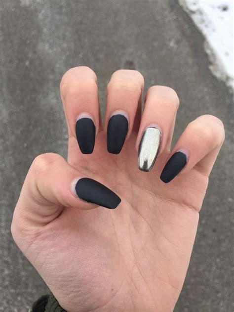 matt gel nails best 25 black chrome nails ideas on mirror