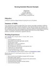 skills to put on a resume for cna resume template exle