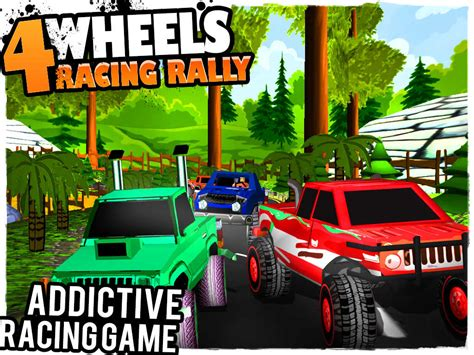 racing monster truck games 4 wheels racing rally 3d monster truck race game