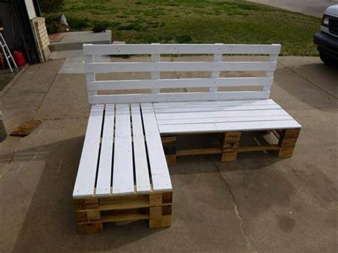 how to make a pallet bench diy pallet sectional bench pallet furniture diy
