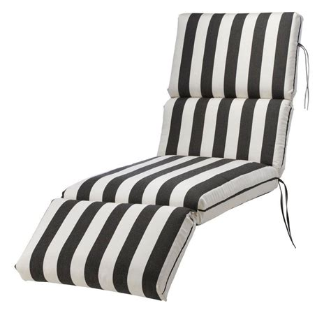 Black And White Striped Chaise Lounge Cushions home decorators collection sunbrella maxim classic outdoor