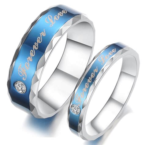 titanium stainless steel mens promise ring