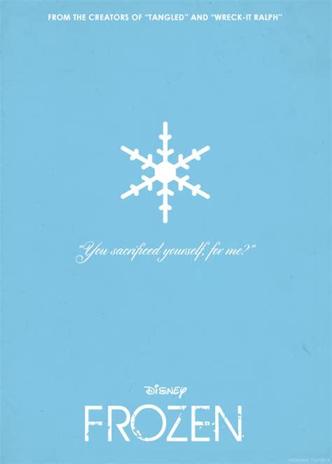 frozen minimalist wallpaper minimalist disney poster tumblr