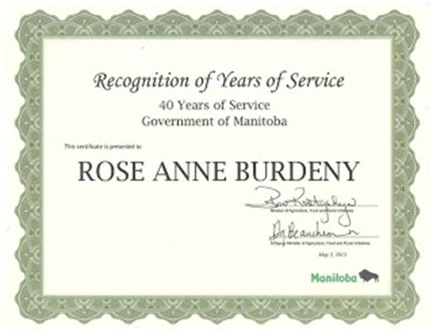 years of service certificate templates my creative works 40 years of service award