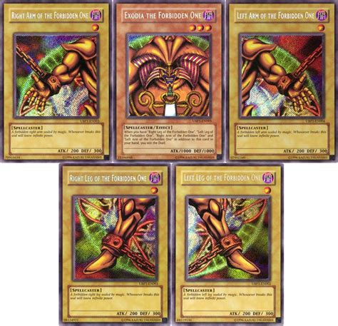 banned yugioh decks i all the pieces of exodia won every yu gi oh card