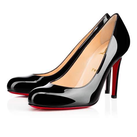 Shoes Christian Louboutin Po229 simple patent 100 black patent calfskin shoes christian louboutin