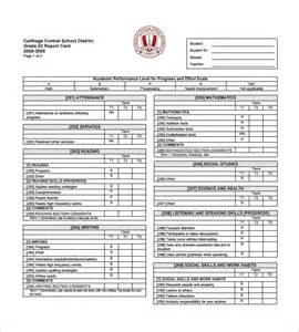Free Printable Report Card Template progress report card template 12 free printable word