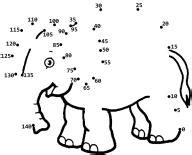 free printable dot to dot counting by 10 printable animal dot to dots that skip count by fives