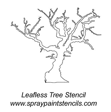 printable stencils of trees stencil of a tree outline cliparts co