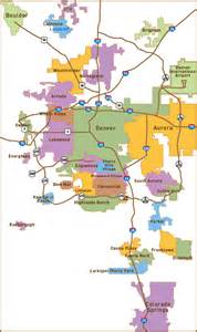 of colorado denver map denver relocation map for denver and the suburbs