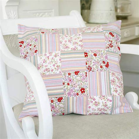 Free Patchwork Patterns For Cushions - upcycle clothes by sewing a patchwork cushion