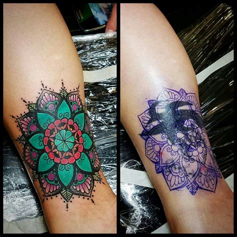 tattoo cover up ideas for ribs mandala cover up pinteres