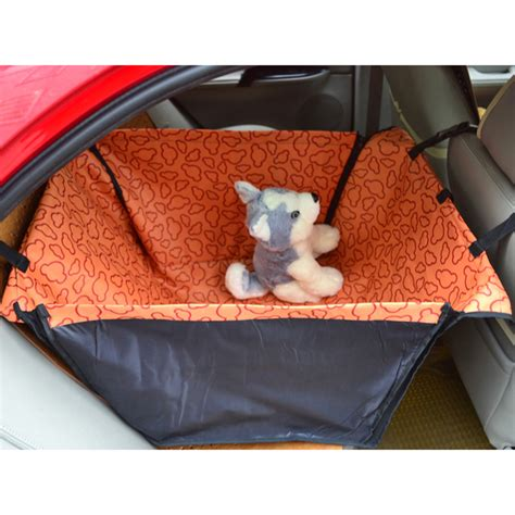 back seat pet bed waterproof pet cat rear back seat car auto beds