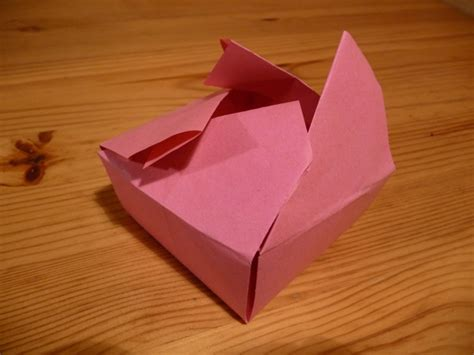 Origami Box With Lid - easy origami box with attached lid comot