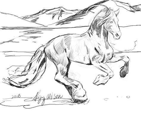 free coloring pages of horse running