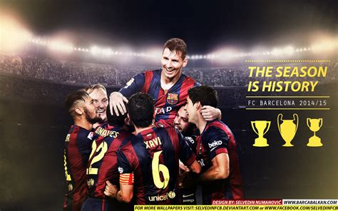 barcelona wallpaper hd 2015 16 fc barcelona champions 2015 hd wallpaper by selvedinfcb on