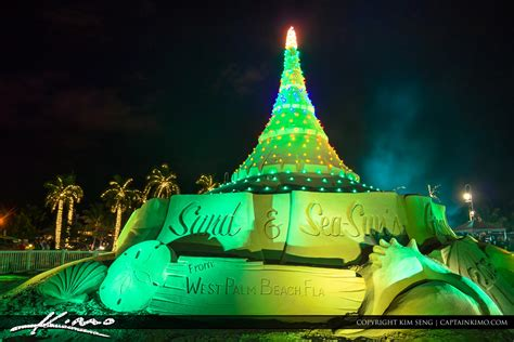 christmas tree made from sand west palm beach