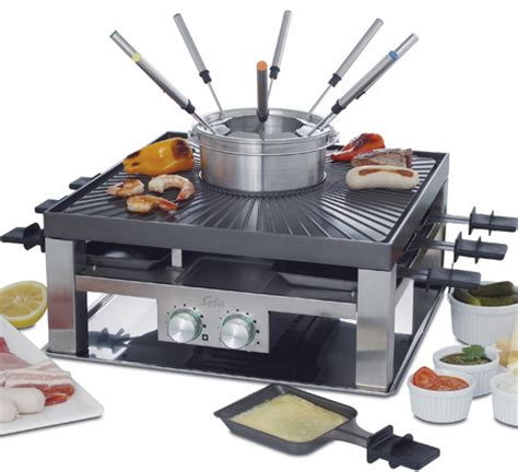 Raclette Grill Mit Fondue by Solis Combi Grill
