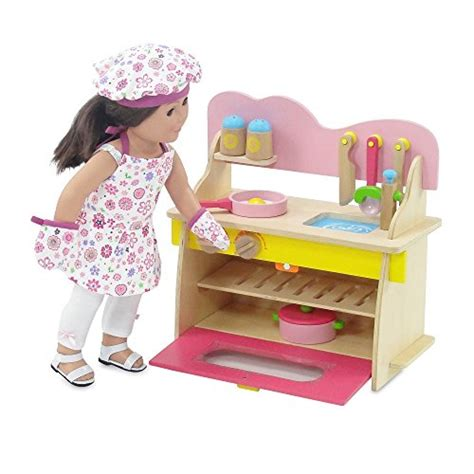 18 Inch Doll Kitchen Furniture 18 Inch Doll Furniture Kitchen Set With Oven Stove Sink And Accessories Fits American