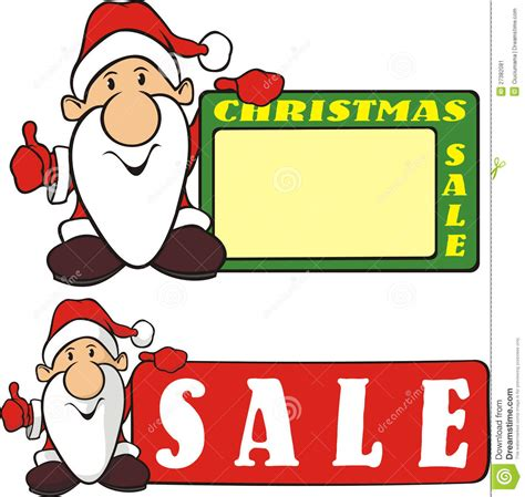 christmas sale santa claus stock vector image 27382081