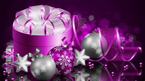 merry christmas  happy  year purple gift box wallpaper hd  desktop