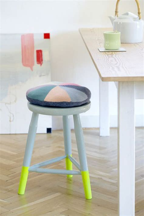Stool Painting by Paint Dipped Furniture Designs The New Trend For 2013