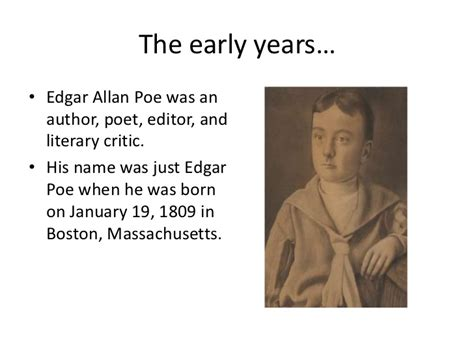 edgar allan poe brief biography the life of edgar allan poe
