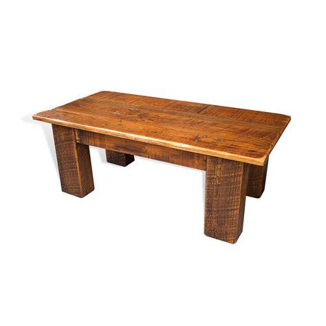 barnwood coffee table barnwood beam leg coffee table