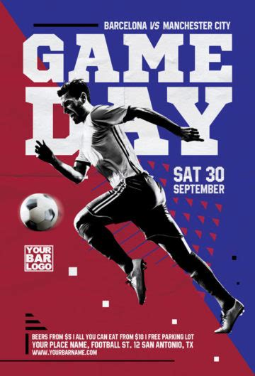 freepsdflyer download the best free football flyer psd templates