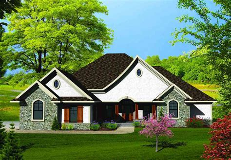 country french house plans one story single story country french home 89803ah architectural