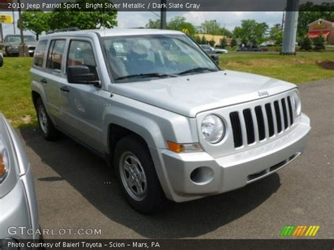 silver jeep patriot interior bright silver metallic 2010 jeep patriot sport