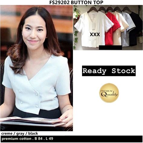 Top Atasan Hongkong Ready Premium Quality button top supplier baju bangkok korea dan hongkong