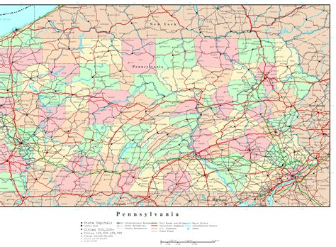 map of pa counties pennsylvania political map