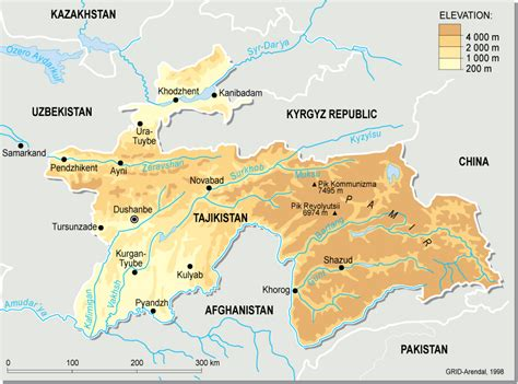 tajikistan map tajikistan topographic map map pictures