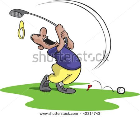 Swing Golf Italiano by A Bad Golfer Swinging And Missing Golfer And