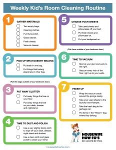 kitchen cleaning tips to do each day ad cleaning checklist for kids rooms free printable