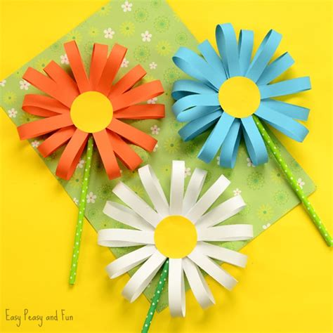 Paper Cutting Flowers Crafts - paper flower craft easy peasy and