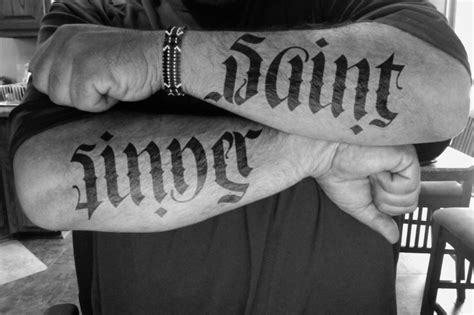 The Sinner Also Search For Sinner Ambigram Tattoos