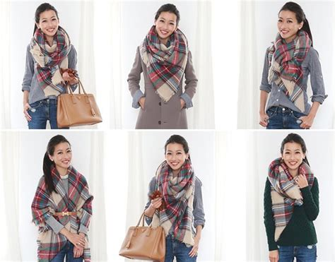 how to wear a blanket scarf 7 ways to wear