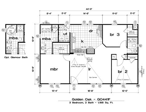New Manufactured Homes Floor Plans by Gorgeous Mobile Home Floor Plans On Great New Mobile Home