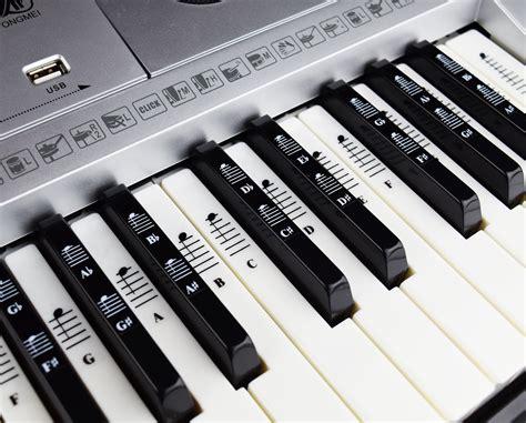 piano  keyboard  note full set stickers  white